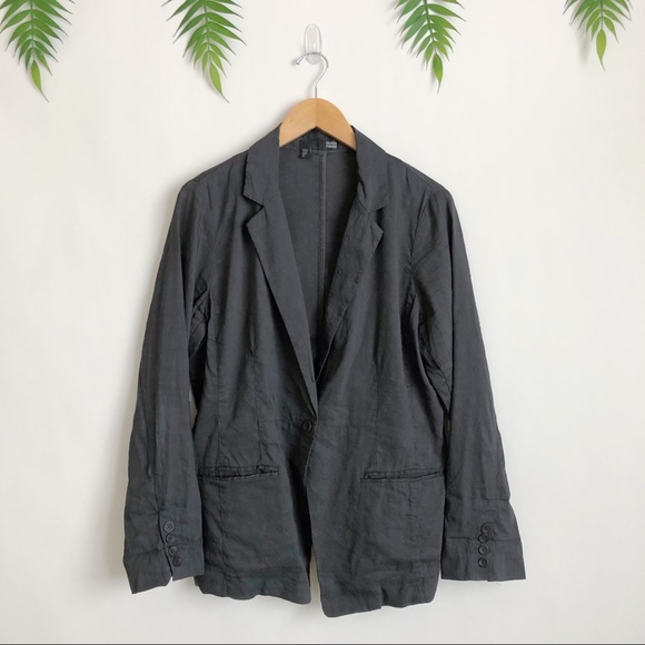 Eileen Fisher Jackets & Blazers - Eileen Fisher • Gray Linen Blend Shaped Blazer